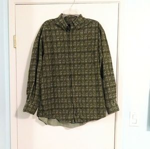Woolrich Olive Green Long Sleeve Button Up